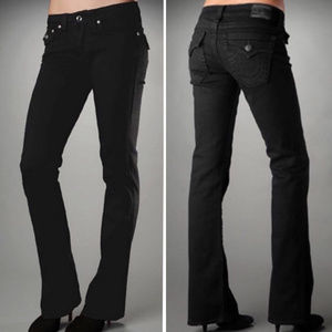 True Religion Black Becky Jeans Flap Pocket